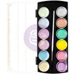 Prima Metallic Accents Semi-Watercolor Paint Set 12/Pkg - Pastel