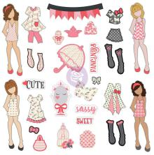 Prima Julie Nutting Ephemera Cardstock Die-Cuts 31/Pkg - Dolls & Accessories
