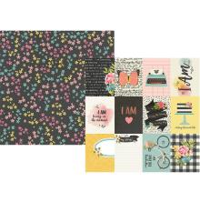Simple Stories I Am Specialty Cardstock 12X12 - 3X4 Elements