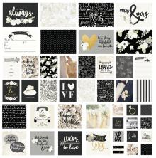 Simple Stories Sn@p! Card Pack 48/Pkg - Always & Forever