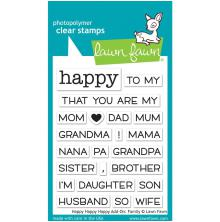 Lawn Fawn Clear Stamps 3X2 - Happy Happy Happy Add-On: Family
