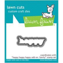 Lawn Cuts Custom Craft Die - Happy Happy Happy Add-On: Family