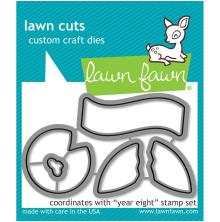 Lawn Fawn Custom Craft Die - Year Eight