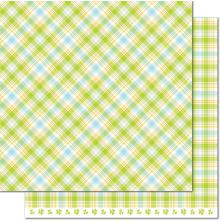 Lawn Fawn Perfectly Plaid Spring Double-Sided Cardstock 12X12 - Hydrangea