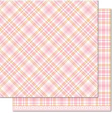Lawn Fawn Perfectly Plaid Spring Double-Sided Cardstock 12X12 - Dahlia