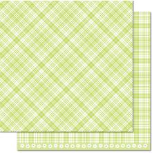 Lawn Fawn Perfectly Plaid Spring Double-Sided Cardstock 12X12-Lily Of The Valley