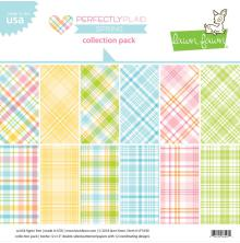 Lawn Fawn Double-Sided Collection Pack 12X12 12/Pkg - Perfectly Plaid Spring