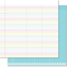 Lawn Fawn Really Rainbow Double-Sided Cardstock 12X12 - True Blue