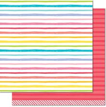 Lawn Fawn Really Rainbow Double-Sided Cardstock 12X12 - Ruby Red