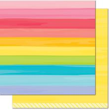 Lawn Fawn Really Rainbow Double-Sided Cardstock 12X12 - Yellow Brick Road