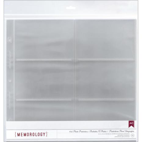 American Crafts Photo Protectors With Sleeves 12´X12´ Sheet 10/Pkg