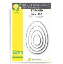 Birch Press Die - Stitched Egg Set