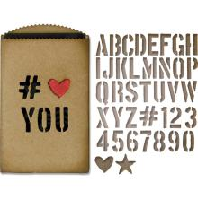 Tim Holtz Sizzix Thinlits Dies 40/Pkg - Gift Card Bag