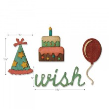 Tim Holtz Sizzix Sidekick Side-Order Set - Birthday