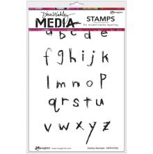 Dina Wakley Media Cling Stamps 6X9 - Scribbly Alphabet