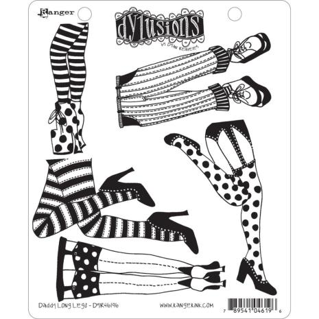 Dylusions Cling Stamp 8.5X7 - Daddy Long Legs