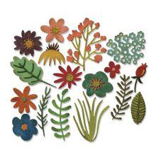 Tim Holtz Sizzix Thinlits Dies 17/Pkg -Funky Floral