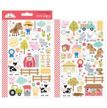 Doodlebug Mini Icons Cardstock Stickers - Down On The Farm
