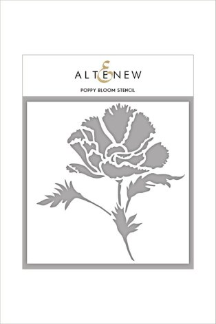 Altenew Stencil 6X6 - Poppy Bloom
