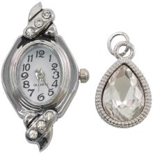 Tim Holtz Assemblage Charms 2/Pkg - Watch Face & Droplet