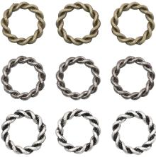 Tim Holtz Assemblage Links 9/Pkg - Braided Rings