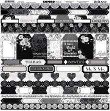 BoBunny Combo Stickers 12X12 - Black Tie Affair
