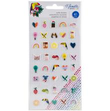 Shimelle Box Of Crayons Puffy Stickers - Mini Icons