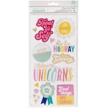 Dear Lizzy Thickers Stickers 5.5X11 2/Pkg - Stay Colorful Groovy Phrase
