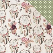 Kaisercraft Gypsy Rose Double-Sided Cardstock 12X12 - Wandering
