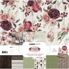 Kaisercraft Paper Pack 12X12 12/Pkg - Gypsy Rose