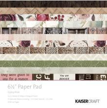 Kaisercraft Paper Pad 6.5X6.5 40/Pkg - Gypsy Rose