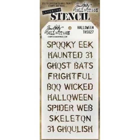 Tim Holtz Layered Stencil 4.125X8.5 - Halloween