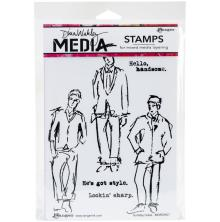 Dina Wakley Media Cling Stamps 6X9 - Scribbly Fellas