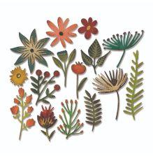 Tim Holtz Sizzix Thinlits Die Set 15PK - Funky Floral 3