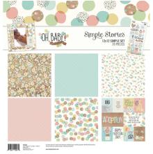 Simple Stories Simple Sets Collection Kit 12X12 - Oh Baby! Adoption