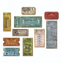 Tim Holtz Sizzix Thinlits Die Set 6PK - Ticket Booth