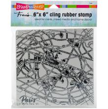 Stampendous Cling Stamp 6x6 - Paris Map