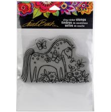 Stampendous Laurel Burch Cling Stamp 4.5x5.5 - Mystical Mare