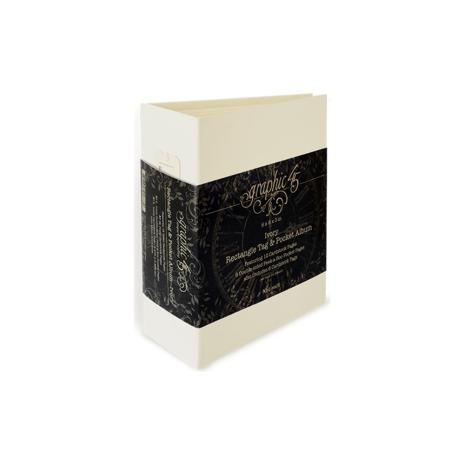 Graphic 45 Staples Tag & Pocket Album 6X8X3 - Ivory Rectangle