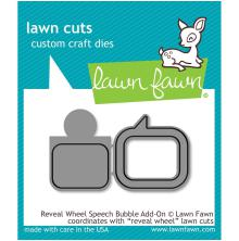 Lawn Fawn Custom Craft Die - Reveal Wheel Speech Bubble