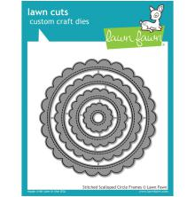 Lawn Fawn Custom Craft Die - Stitched Scalloped Circle Frames