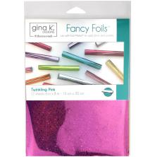 Gina K Designs Fancy Foil 6X8 12/Pkg - Twinkling Pink Holographic