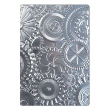 Tim Holtz Sizzix 3-D Texture Fades Embossing Folder - Mechanics
