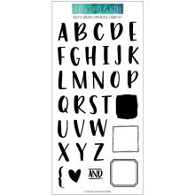 Concord & 9th Clear Stamps 4X8 - Bold & Brushy Uppercase
