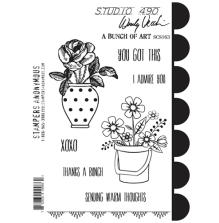 Wendy Vecchi Cling Stamps 6 1/2 x 8 3/4 - A Bunch Of Art