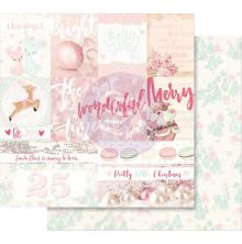 Prima Santa Baby Double-Sided Cardstock 12X12 - Pretty Little Christmas