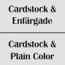 Cardstock / Enfärgade