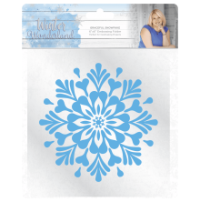 Sara Signature Coll Winter Wonderland 6x6 Embossing Folder - Graceful Snowflake