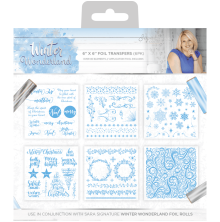 Sara Signature Collection Winter Wonderland 6pk - 6x6 Foil Transfers