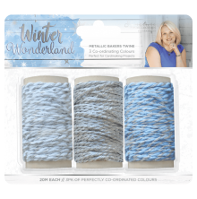 Sara Signature Collection Winter Wonderland 3pk - Metallic Bakers Twine
